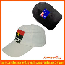 country flag polyester caps hats