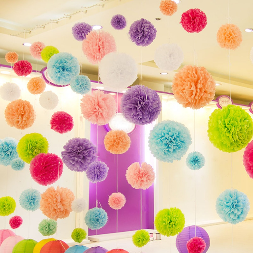 Tissue Paper Poms Wedding <strong>decorations</strong> Party Hanging <strong>Decorations</strong>
