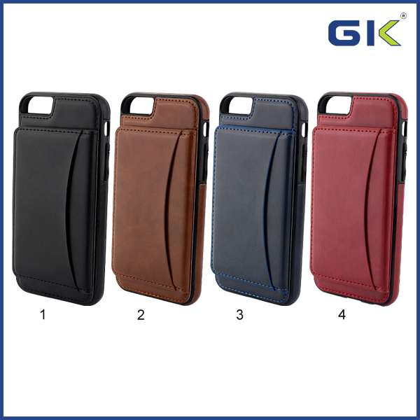[GGIT] New Design With Card Slot TPU+PU Holster Leather Phone Case For IPhone 6 Flip Cover
