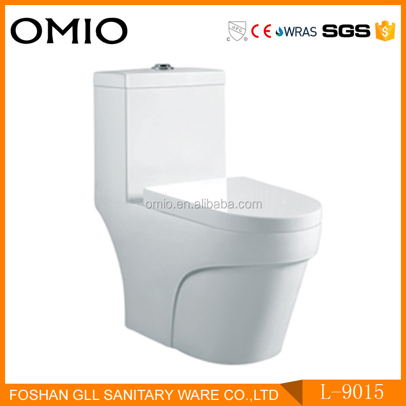 Porcelain economy bathroom one piece toilet