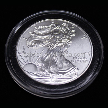 Wholesale Clear Acrylic Coin Holder With Black Ring