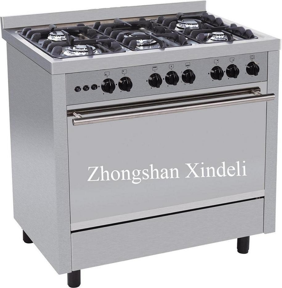 economic gas cooking range with big fire
