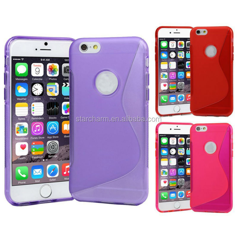 High Quality Mobile Phone Accessories High Quality S Line TPU Gel Case for iphone 6