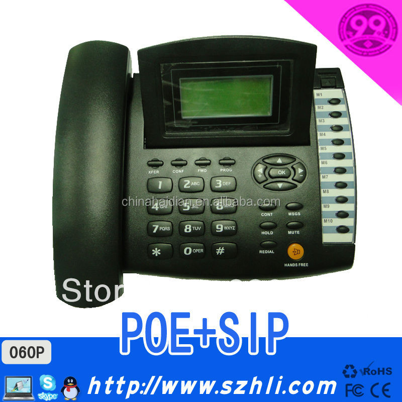 Hot 060P! SIP & POE Office Business Voip phone supporting SIP Protocol with WAN Port Sip telephone