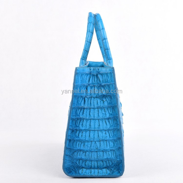 Luxury lady Crocodile skin tote_crocodile leather lady bag _crocodile women#LUXE FACTORY