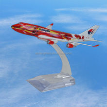 alibaba plane B747 customized logo ABS scale model aircraft with low MOQ