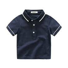New design solid color leisure short sleeves boys summer T shirt cotton polo T shirt