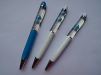 3D floater floating liquid pen with ballpoint pen,Custom floater for promotional items