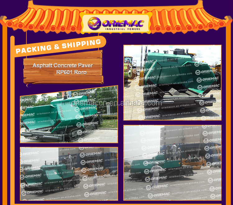Good performance 9 meter asphalt paving machinery RP953E for sale