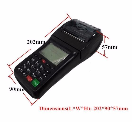 Hot Item Restaurant Online Ordering GPRS SMS Handheld GSM Printer