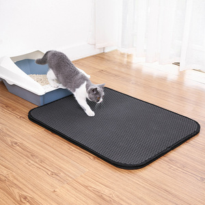 Factory direct sale Durable Non-Slip Cat Litter Trapper Scatter Control Cat Litter Mat Easy to Clean-S