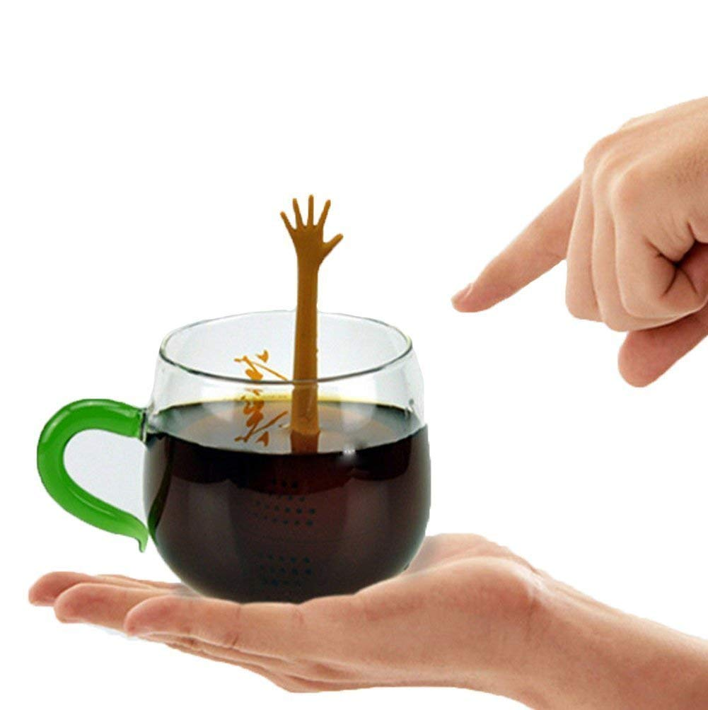 5 Designs Victory Hand Gestures Silicone Tea Infuser