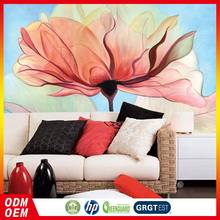 2016 New Style Nice Quality New Style Beautiful Lotus Flower painting Design New Wallpaper murals for office