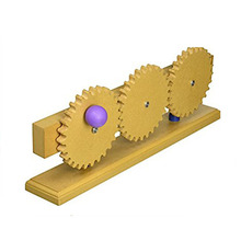 Wholesale wooden children kindergarten education science toys Gear Train Model