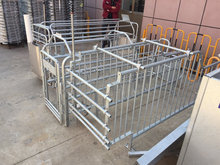 Gavanized heavy duty metal pig gestation pens pig rail pens livestock metal fence panels