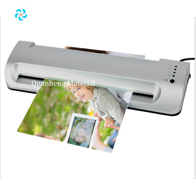 Automatic photo laminator office using document or paper laminating A4, use to id card film laminator