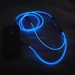 many models!!led glow earphones and charger cables / EL flowing led light up usb cables