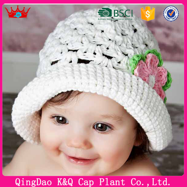 Custom Stylish Baby Girls Fashion Knitted Crochet Cloche Beanie Hat Pattern
