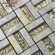 colorful arabic goldstar marble mosaic for sale