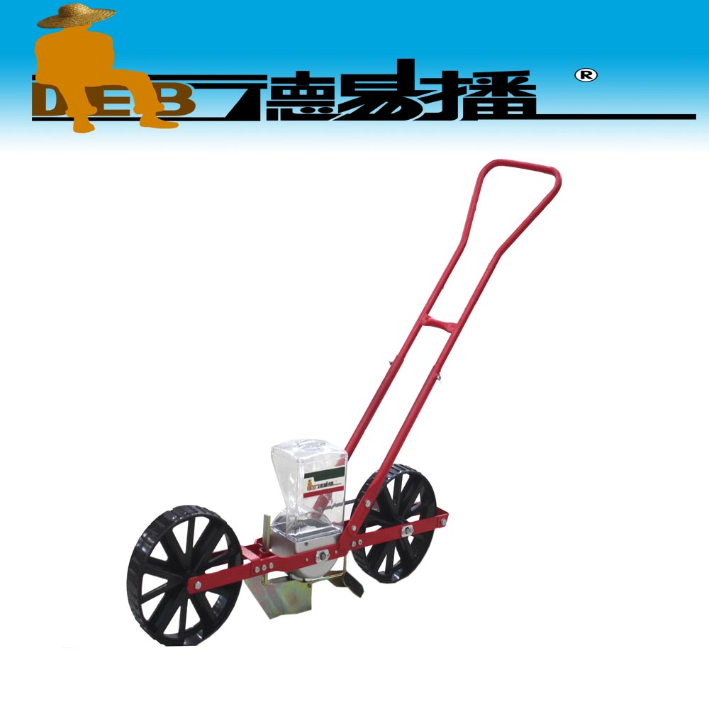 1 row portable auto seeder/metal hand push onion planter/no till seeder