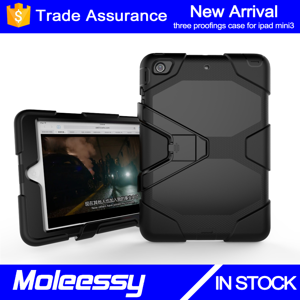 Hard rubber for iPad hybrid case 7 inch/8inch tablet case with touch screen case for iPad Mini