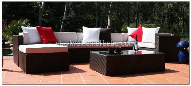 AWRF5014B-2 luxury rectangle rattan outdoor tea table garden furniture,rattan outdoor