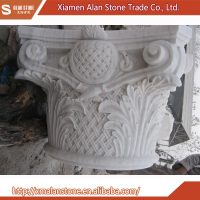 Low Cost High Quality Architecture Of Carved Marble Column Wall Art Decoration