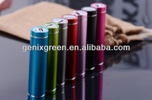 real 2600 mah round lipstick mobile power solution for all smart phone
