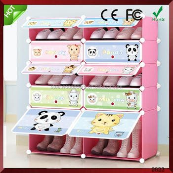 Bedroom Plastic Foldable Wardrobe Cloth Storage Cabinet