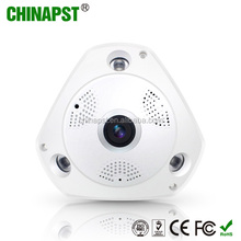 Popular H.264 real time Two-way audio & IR Cut 1.3 Megapixel 3D VR Panoramic Fisheye wifi network camera PST-IPFE02