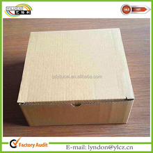 Standard corrugated mail box size corrugated packaging box