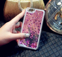 Dynamic Liquid Glitter Sand Quicksand Star mobile phone Case For iphone 6 Plus