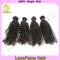 Factory supply 5a raw indian kinky curly remy hair weave