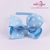 Dot Hair Bows Headbands For Baby