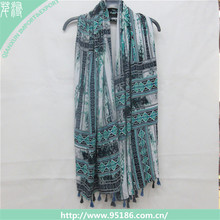 2016 fashion lady printed viscose scarf