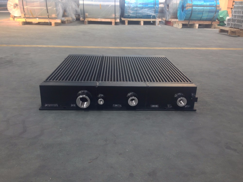 2015 hot aluminum plate-fin water tank cooler/radiator for construction machinery