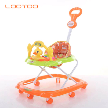 Multifunction baby walker, baby trolley walker with music and light exersaucer walker combo