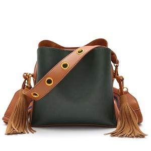 HG1011 2018 Korean Style Women Casual Messenger Bag PU Leather Shoulder  Handbag Crossbody Tassels handbags ladies 84bd515a2c4e9