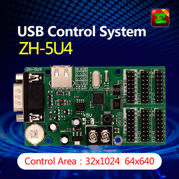 LED Display Control Board Support USB Port And Serial RS232 Port With 4*Hub 12/2*hub 08