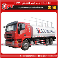 3axle 6x4 diesel engine IVECO fuel tank truck for sale