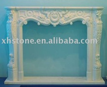 Gas insert marble stone fireplace wholesale