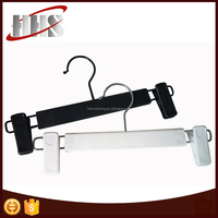 Durable Plastic Pants/Trouser Hangers With Clips For Garment Dispaly