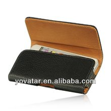 Horizontal Leather Pouch Belt Clip Holster Carrying Case For Apple iPhone 5
