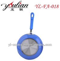 2015 hot sale brighter color Aluminum 3003 electric non-stick ceramic frying pizza pan