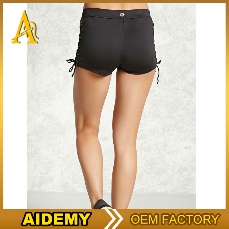 Wholesale Polyester Spandex Sport Custom Sublimation Women Running Shorts