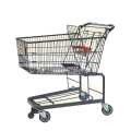 Shopping cart with big basket.