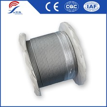Strong Galvanized Steel Wire Rope Zinc Coated Steel Cable Long Life