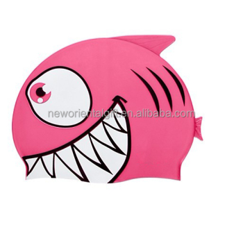 Funny Kids Cartoon Waterproof Silicone Swim Cap