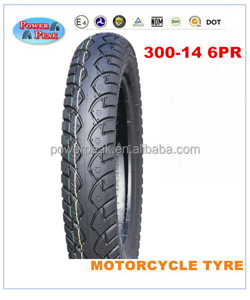 Size 14 motorcycle tyre 3.00-14 scooter tire 300-14 300x14 TT tyre 300 14 6PR