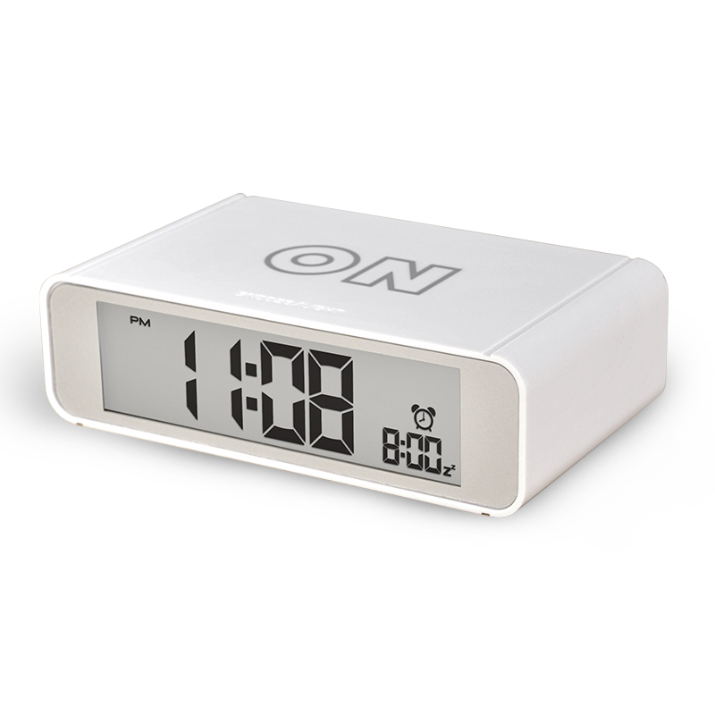 Desk table alarm clock with flip calendar on/off alarm function for children